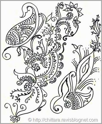 Free Hand Floral Design Drawing Chittara Rangoli Pattern ...